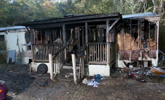 Florida State Trooper Angel Luna rescued a 19-year-old from this home on Blue Angel Parkway during a fire at the residence last Sunday, Nov. 10, 2019. Luna was the first rescuer on the scene and saved the teenager by breaking a bedroom window to free the young man