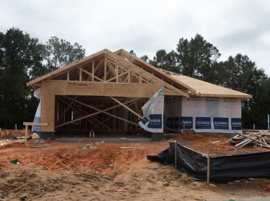 Construction continues in November on the new Cambria subdivision in Milton.