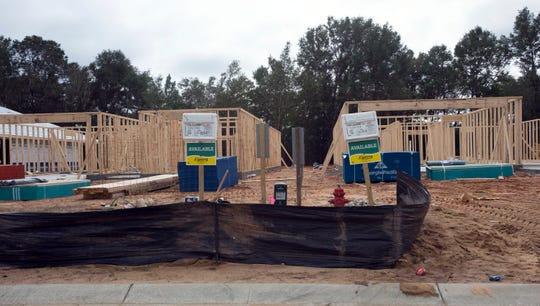 Construction on the Cambria subdivision in Milton continues in mid-November.