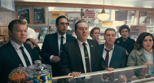 "Jesse Plemons (from left), Ray Romano, Robert De Niro and Al Pacino star in ""The Irishman."""