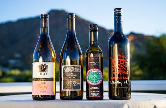The winners of The Arizona Republic wine contest photographed at the Mountain Shadows Resort in Scottsdale.