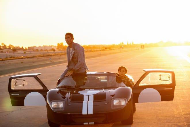 """Christian Bale (left) and Noah Jupe star in """"Ford v Ferrari."""""""