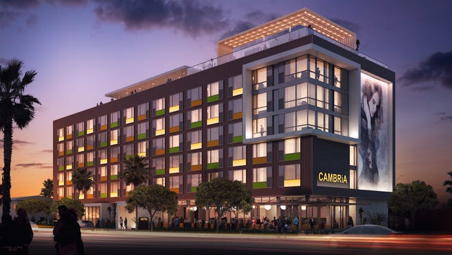 Rendering of Cambria Hotel Downtown Phoenix, scheduled to open on Roosevelt Row in late 2019.