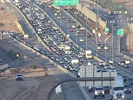 A crash on eastbound Loop 101 at 35th Street in Phoenix was causing significant delays on Nov. 12, 2019.