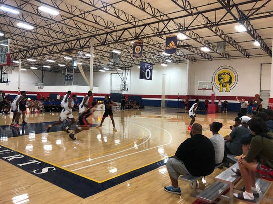 Nov. 11, 2019; Hillcrest Prep plays against Scales Prep Academy of California in its home opener of the 2019-20 season