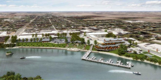 A project to improve Oak Harbor's waterfront calls for the construction of an ADA-accessible riverfront boardwalk, or walkway, along with an amphitheater, shelter house and floating docks, based on the master plan released by the Oak Harbor Development Group, which is spearheading efforts to support the project.
