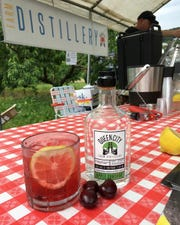 Apple Sunshine liquor mixed with cherry lemonade at Prospect Hill Orchards in Milton.