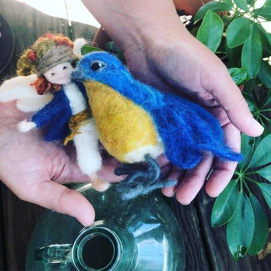 Martha Belardo of Hudson Valley Fiber Arts in Pine Plainswill have her needle-felted woodland critters for sale at the Sinterklaas Artisan Craft Fair Nov. 24.
