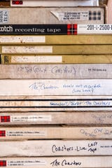Original studio master tapes are archived at Chuck Stenberg's home in Sublimity on Nov. 1. Stenberg acquired tapes from Garland Records and restored a 4-Track Ampex tape machine to play them.
