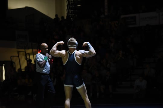 Levi Perry won all five of his matches last week in the debut of wrestling at Corban.