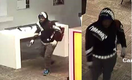 Images of a man suspected of breaking into a Woodburn Verizon store.