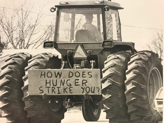 "In December 1977, San Angelo area farmers joined farmers across the nation staging ""tractorcades"" to protest conditions they said were unfair."