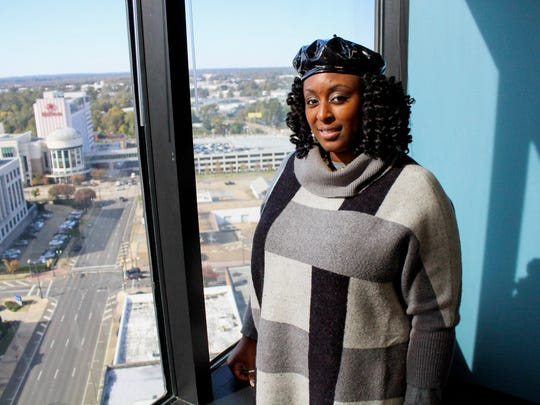 Tia Mills, president of the Louisiana Association of Educators, poses for a portrait at The Times on Tuesday, Nov. 12, 2019.