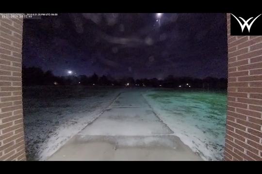 Surveillance cameras from Willard Public Schools captured a meteor flying overhead.