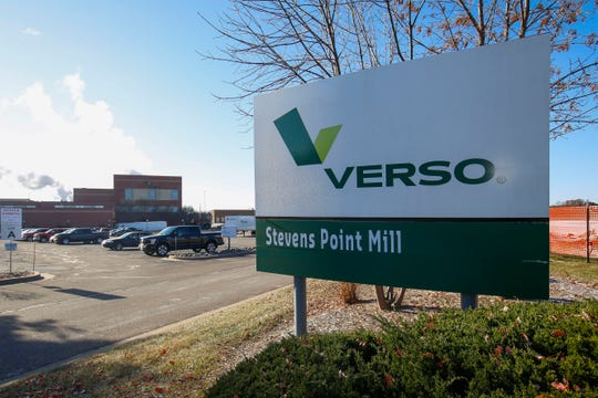 The Verso paper mill, as seen on Tuesday, November 12, 2019, along the Wisconsin River in Stevens Point, Wis. Pixelle Specialty Solutions, a Pennsylvania-based paper manufacturer, has agreed to purchase the mill and the sale should close in the first quarter of 2020.