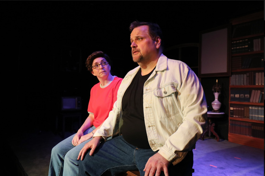 "Alison (Kelly Stever Elliott) goes for an unforeseen drive with her father, Bruce (Ken Lambert) in the New Stage Theaterworks production of ""Fun Home."""