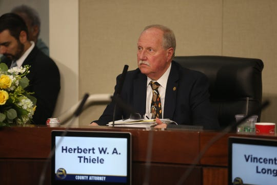 Leon County Attorney, Herbert Thiele, Leon County Commission Meeting Tuesday, Nov. 12, 2019.
