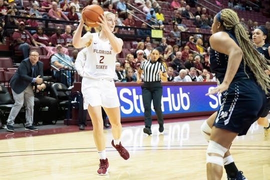 FSU guard Sammie Puisis scored 14 points and was a perfect four of four from three in the Seminoles' 70-62 win over LSU.