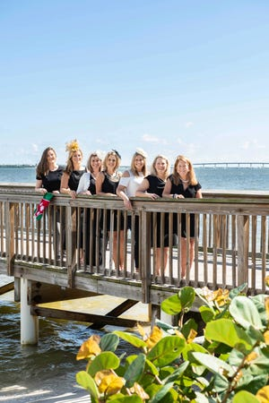 Meet the Martin County Guild 2019-20 Event Chairs, from left, Ashley-Braden Knowles, Santa's Elves; Amy Freese, Covelli Luncheon; Michelle Schwartz, Julia Garcia and Dana Anderwald, Kentucky Derby; and Ellen Houts and Andi Brennan, Broadway Gala. Not pictured:  Joan Damson, Broadway Gala; and Alicia Weber, Covelli Luncheon.