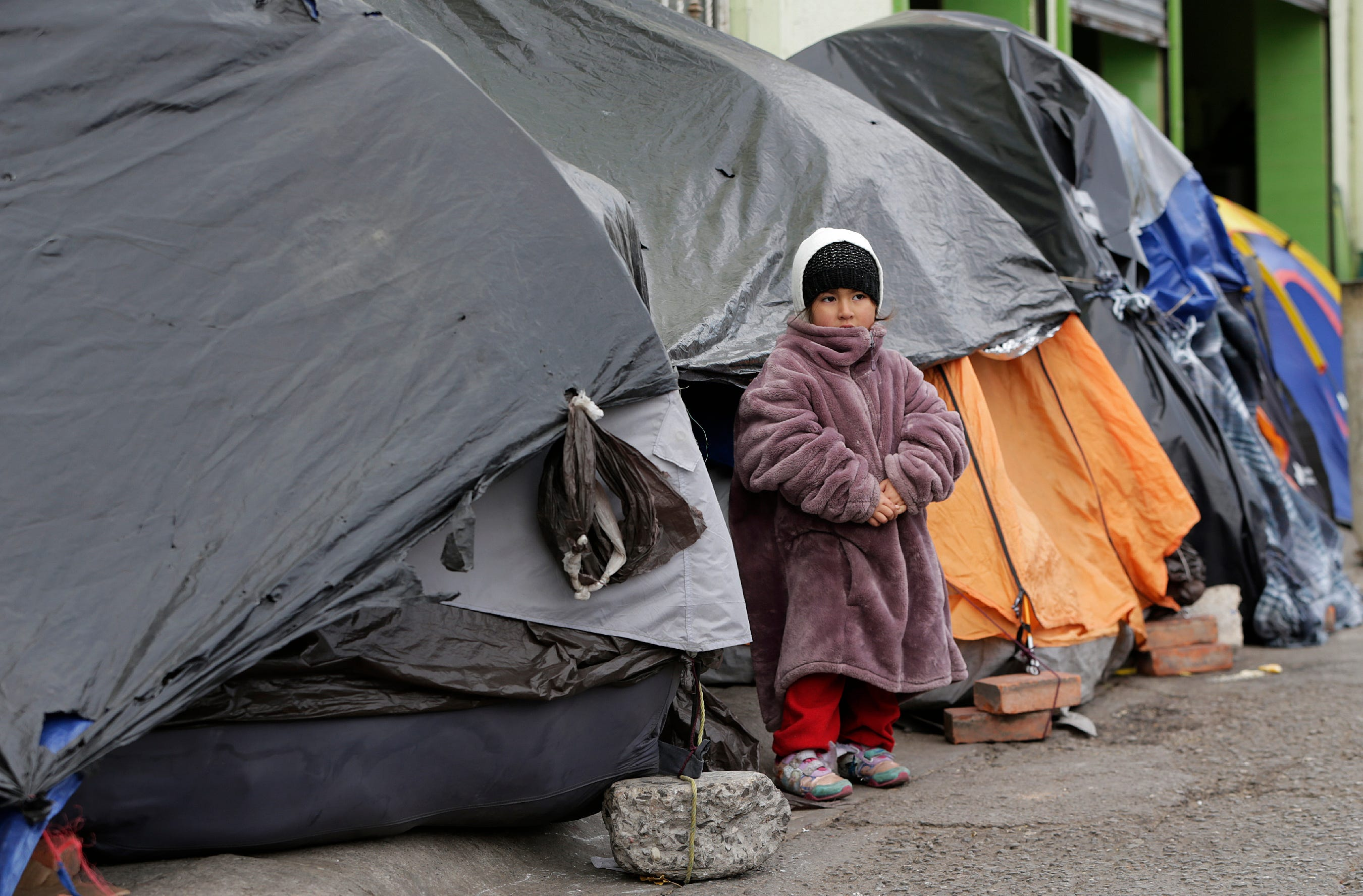 'It feels like no one is listening': Mexican asylum seekers battle cold as they wait turn