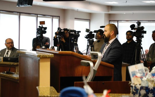 State representative Joe Moody of El Paso spoke in favor of the City Council's interest in 'cite and release' policies.