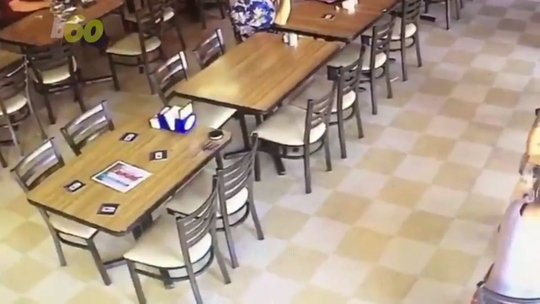 A security camera caught chairs falling down on their own at Cronies. This 2017 video explains why some folks think the eatery is haunted.