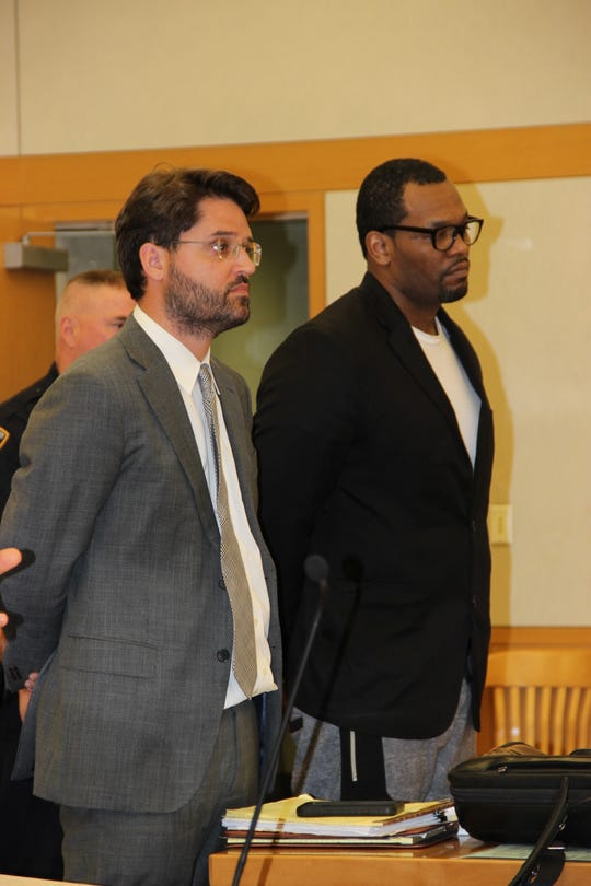 Anthony Burton, right, was sentenced in Westchester County Court on Nov. 12, 2019, for murdering Orlando Johnson in Yonkers in 2016.