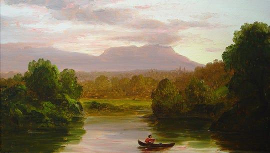 Thomas Cole: On Catskill Creek, Sunset, 1845-1847
