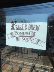 Bing's Bake & Brew is a new coffee shop coming in early December. A sign touting the business is at the former Saxby's at the corner of South Main Street and Amstel Avenue in Newark.