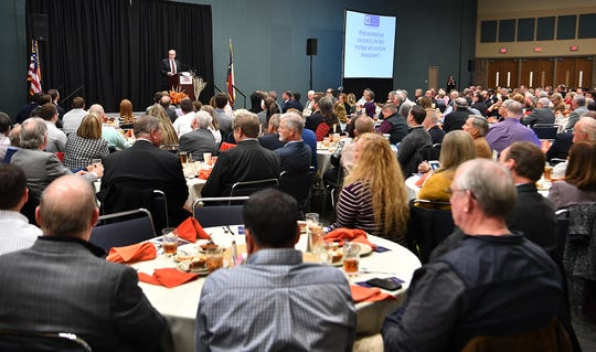The Wichita Falls Chamber of Commerce held its 29th Annual Economic Forum Tuesday at the Ray Clymer Exhibit Hall. Jeff Moseley, CEO of the Texas Association of Business, was the keynote speaker.