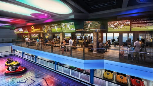 The SeaPlex on Odyssey of the Seas is the largest indoor activity space at sea.