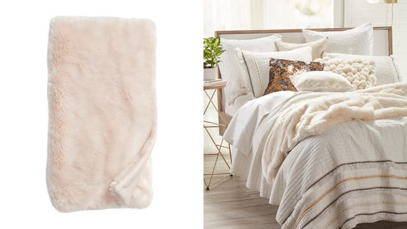 Cuddle up in comfort ala this luxurious faux fur throw.