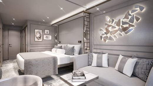 All guests on the Crystal Endeavor are treated to suites with butler service.