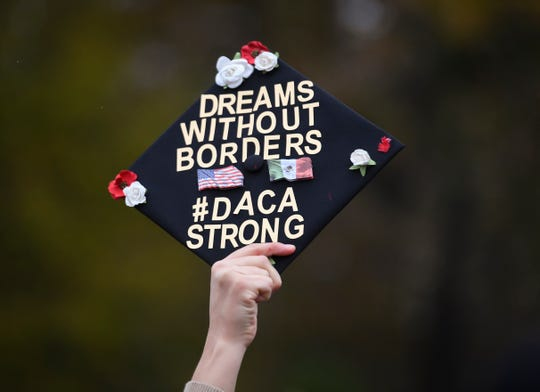 Nov 12, 2019; Washington, DC, U.S.A; The U.S. Supreme Court hears arguments on whether the 2017 Trump administration decision to end the Deferred Action for Childhood Arrivals program (DACA) is lawful. Mandatory Credit: Jack Gruber-USA TODAY ORIG FILE ID:  20191112_ajw_usa_033.jpg