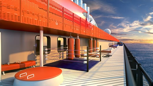 "Virgin Voyages puts emphasis on wellness with a program called ""Vitamin Sea"" and both indoor and outdoor fitness spaces."