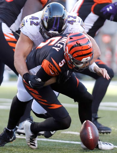 32. Bengals (Previously: 32): Sorry, Ryan Finley, but NFL ain't fair (ask Andy Dalton). Bet here is you've got seven more games to convince Cincinnati not to draft another QB No. 1.