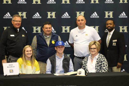 Ross McCurley (baseball) signs his letter of intent with Lander University.