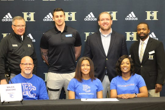 Maleia Bracone (basketball) signs her letter of intent with Presbyterian College.