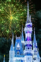 """""""Minnie's Wonderful Christmastime Fireworks"""" is a new nighttime spectacular at Mickey's Very Merry Christmas Party at Magic Kingdom Park at Walt Disney World Resort."""