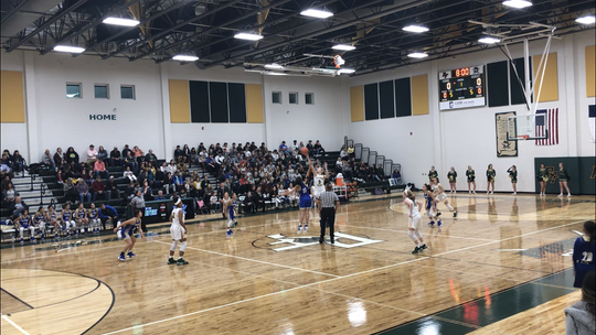 Rockport-Fulton competed against San Diego in a non-district girls basketball game as the official opening of Pirate Gym.