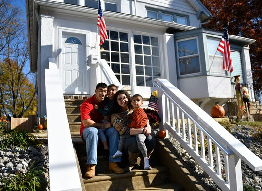 Cpl. Joe Logue Jr. and his family were gifted a mortgage-free home in Collingswood from PNC Bank through Military Warriors Support Foundation's Homes4WoundedHeroes program on Wednesday, Nov. 13, 2019.