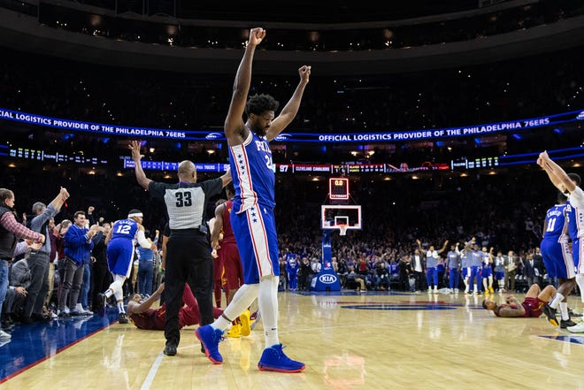 Joel Embiid had 27 points and 16 rebounds Tuesday night against Cleveland. He's likely next in line as the Sixers rest their important players early.