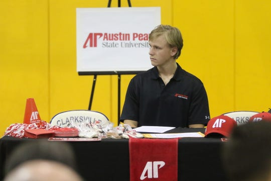 Clarksville Academy baseball standout Nolan O'Shoney on Wednesday signed to play at Austin Peay.