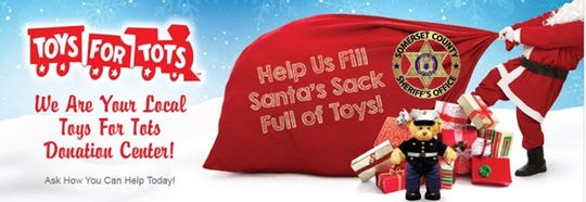 "Donations for ""Toys for Tots"" are being accepted now through Dec. 9 at the Somerset County Sheriff's headquarters, lower level of the Somerset County Administration Building, 20 Grove St., Somerville."