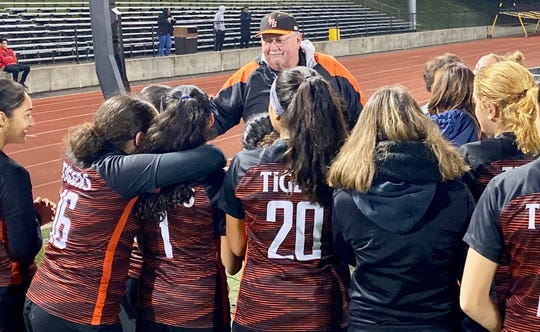 Linden High School girls soccer coach Wayne Mehalick was honored on Oct. 23 at the final game of the season after coaching the team for 27 years.