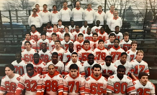 Wayne Mehalick, back row middle, was an assistant coach on the Linden High School football team that won the 1985 North Jersey Section 2 Group 3 championship.
