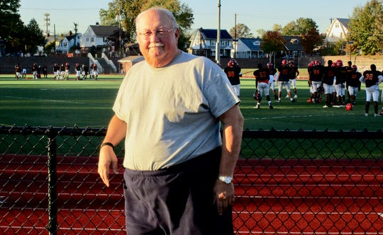 Wayne Mehalick on his first day of retirement, Oct. 24, after coaching various sports at Linden High School more than 50 years.