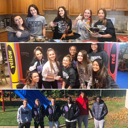 Student-athletes from Old Bridge High School volunteered at the Ronald McDonald House in Long Branch on Wednesday