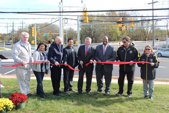 (Left to right) Freeholder Charles Kenny, Freeholder Shanti Narra, Freeholder Deputy Director Charles Tomaro, Edison Council President Alvaro Gomez, Mayor Brian C. Wahler, Freeholder Kenneth Armwood, Piscataway Council President Frank Uhrin, and Piscataway Council Vice President Gabrielle Cahill.