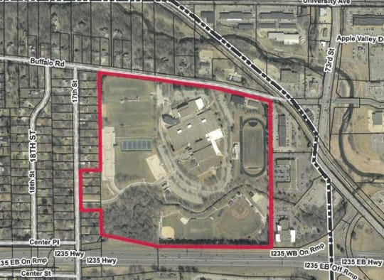 Satellite view of Dowling property, including the four properties it has recently purchased.